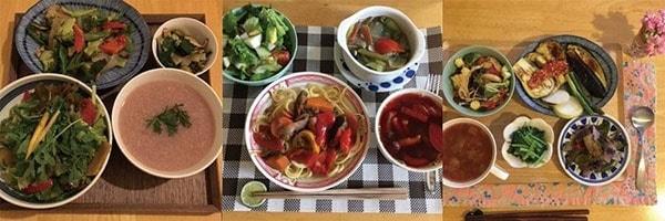 受講された方の料理1