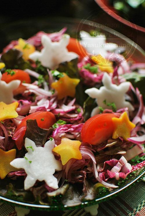紫白菜のサラダ